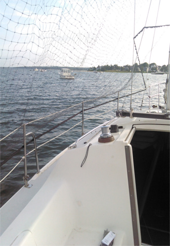 BDS100 Bird Deterrent System protecting a sailboat